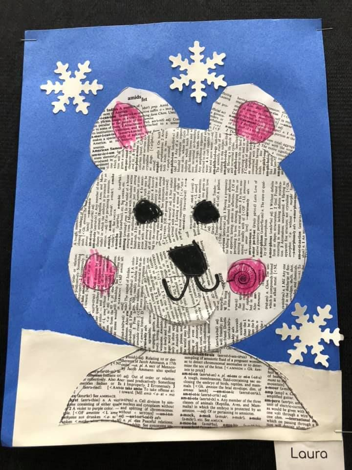 Polar Bears Collage Craft for Kids in 2020 | Magazine collage
