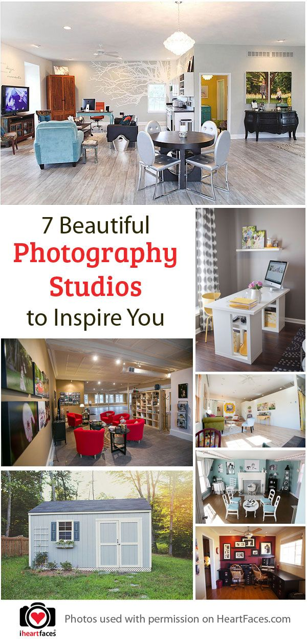 7 Beautiful Photography Studios to Inspire You via iHeartFaces.com