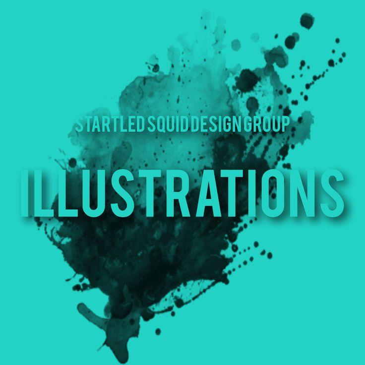 Startled Squid Illustrations Album Cover for Pinterest www.startledsquid.com