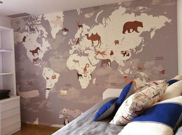 little hands: Little Hands Wallpaper Mural - World Map