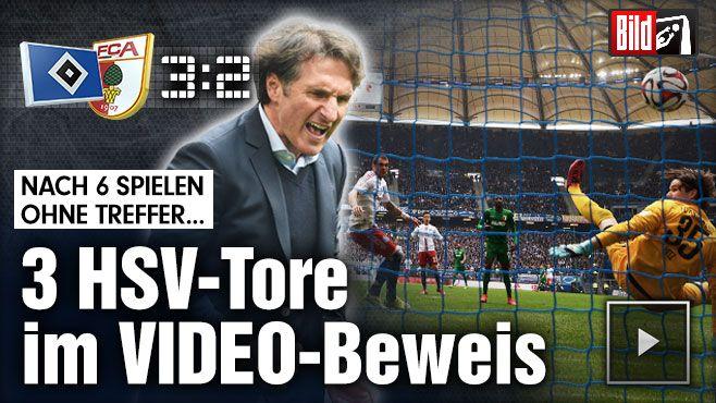 Hamburg - Augsburg 3:2 - Lasogga-Hammer erlöst HSV - Bundesliga Saison 2014/15 http://www.bild.de/bundesliga/1-liga/saison-2014-2015/spielbericht-hamburger-sv-gegen-fc-augsburg-am-30-Spieltag-36650446.bild.html