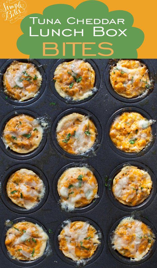 Break the sandwich rut. Tuna Cheddar lunch box bites.