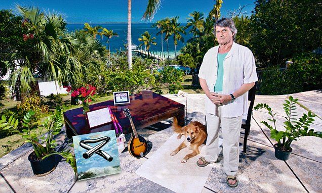 My haven: Mike Oldfield at his beachside home in the Bahamas