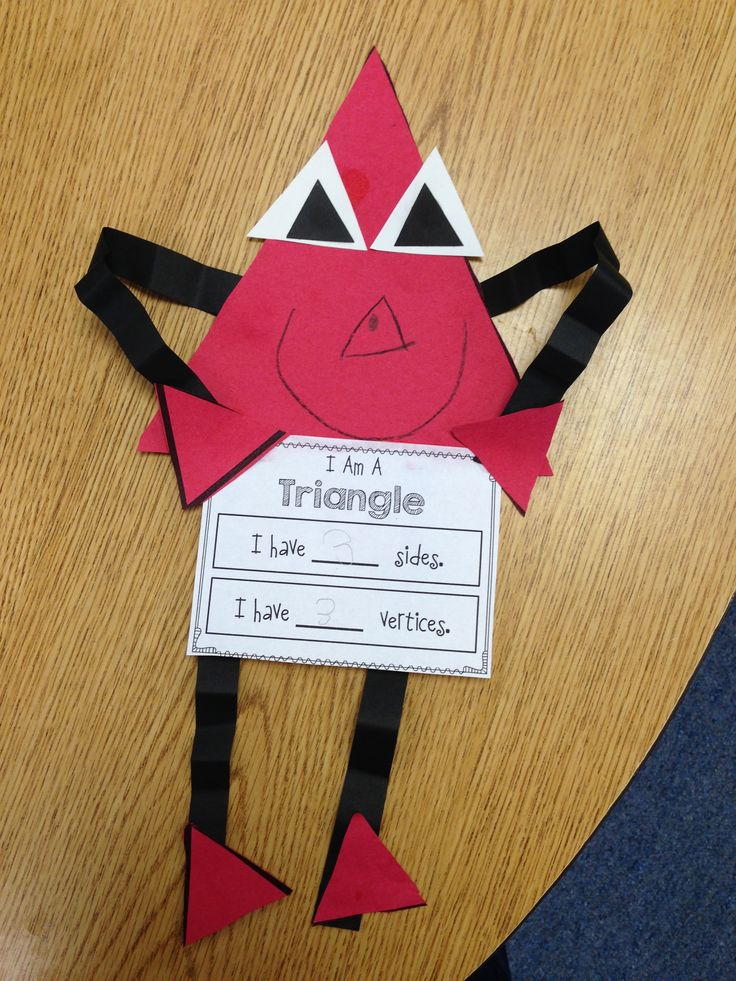 """It would be neat to make a """"Triangle Man"""" for each of the different kinds of triangles.  Or to make one using all of the different kinds of triangles and labeling what each one is."""