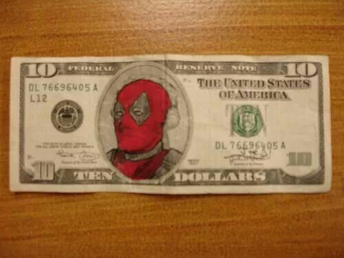 deadpool dollar id frame this if i got it my obsessions pinterest tyxgb76ajthis deadpool and if - Dollar Bill Frame