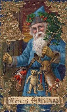 Blue Vintage Santa - Google Search