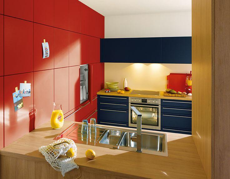 Colourful-Kitchen-Decor-Ideas. Schuller German Kitchens -  Biella.
