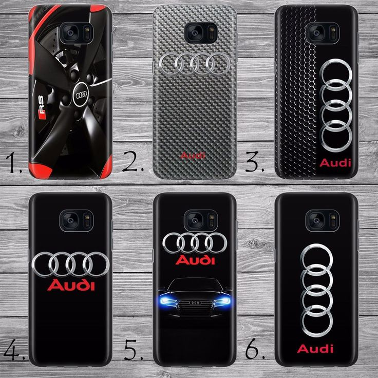Audi logo RS S style sport car THIN case cover Samsung Galaxy S5 S6 S7 S8 Edge +