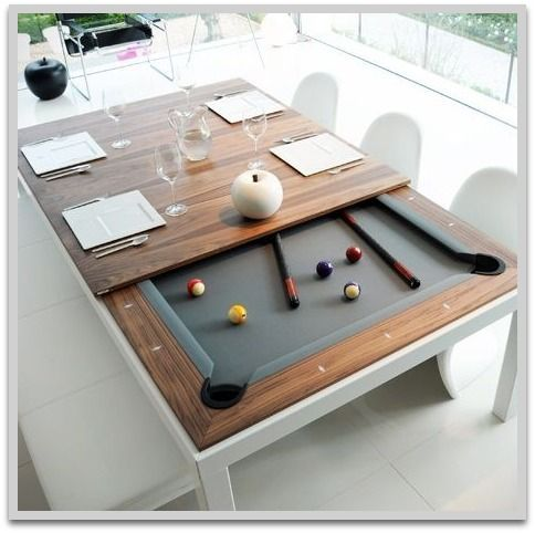 Perfect The Unique Product Is A Dining Table And Pool Table All In One, Simply  Remove The Multi Piece Dining Top ...