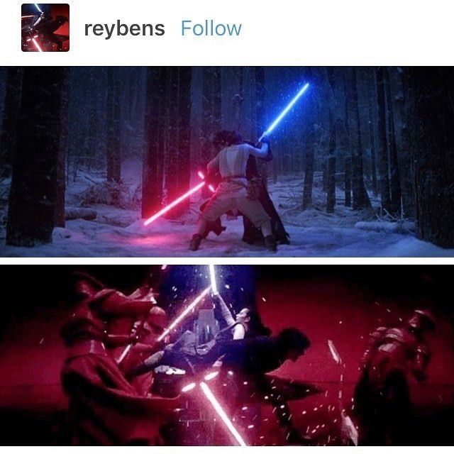 I love the evolution of Rey and Ben's relationship. #reylo
