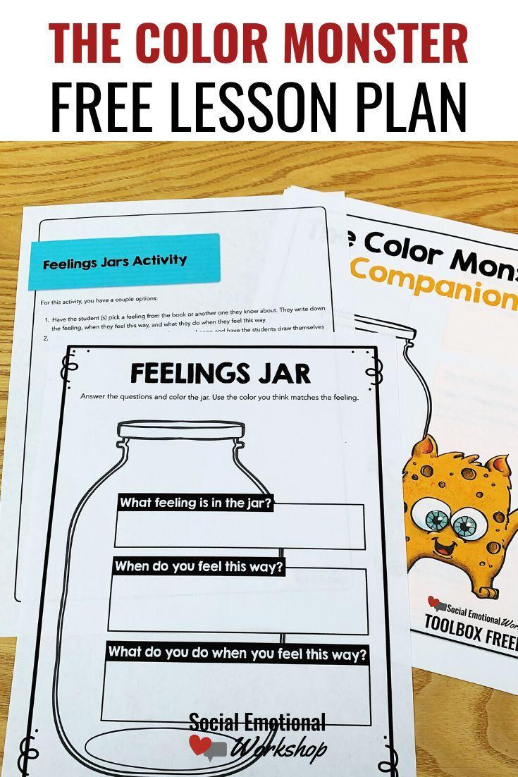 Cup Color Monster Lesson Plan Social Emotional Workshop Social Emotional Learning Lessons Social Emotional Curriculum Social Emotional Workshop