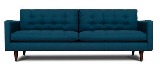 10 Blue Sofas in All Shades, Shapes & Sizes  Only I want dark grey. Love this one.