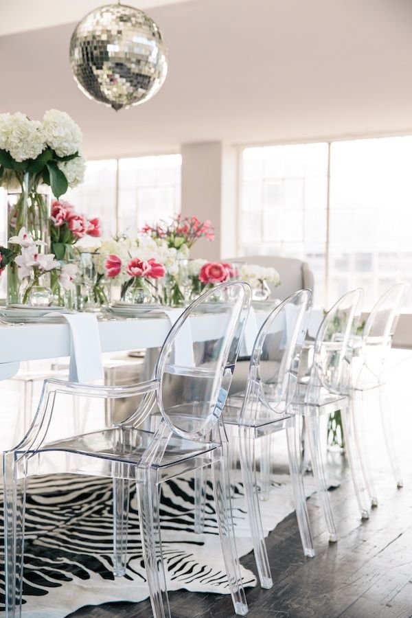 loving these 'ghost' clear chairs  Decorating with lucite furniture — The Decorista