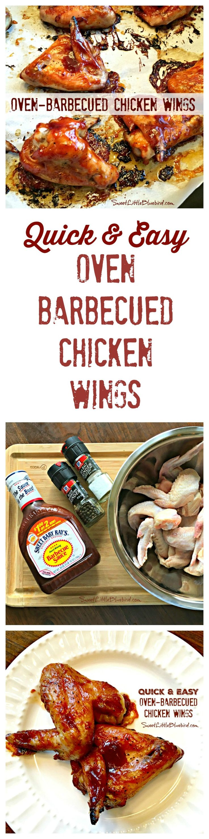 QUICK & EASY OVEN-BARBECUED CHICKEN WINGS - Delicious, fast and easy way to make wings in the oven. Perfect for game day, parties or a fun, budget-friendly dinner! Family Favorite!