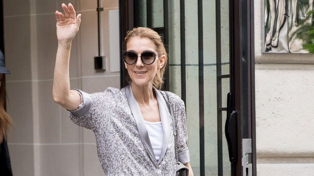 Yes Celine Dion Just Stepped Out in a Fully Sequined Silver Jumpsuit