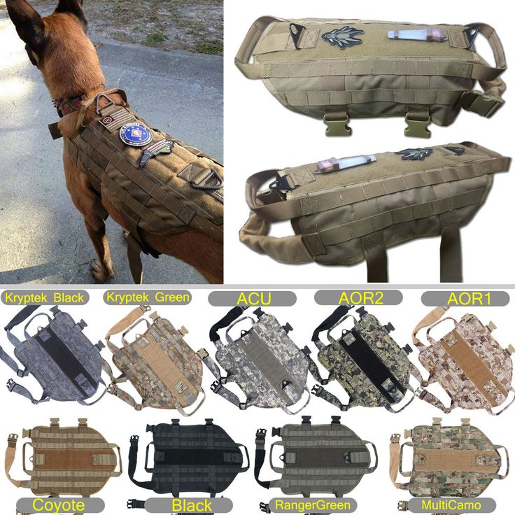 Tactical Dog K9 Training Molle Vest Harness 5 Sizes, 9 colors option], in [Pet Supplies, Dog Supplies, Harnesses | eBay