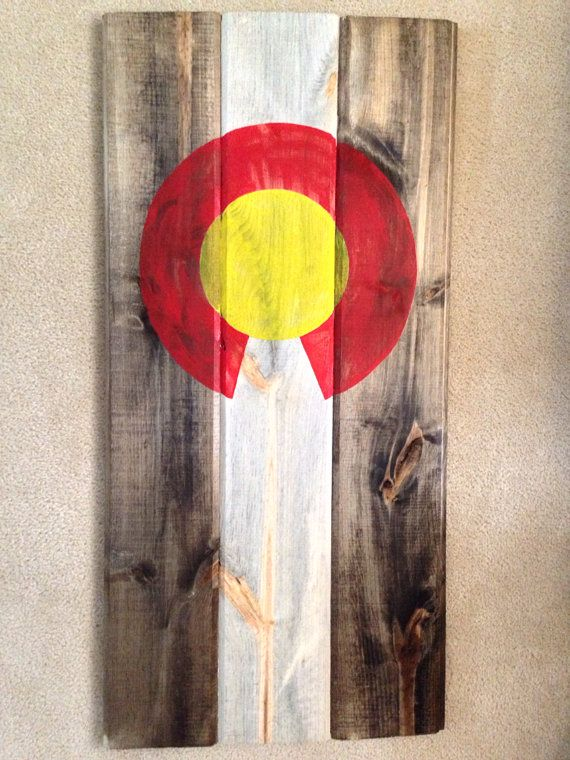 Beetle Kill Pine Colorado Flag Colorado Art Colorado Woods Colorado Home Decoration