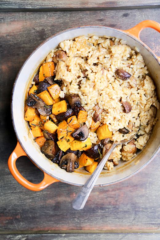 Chestnut, Mushroom and Butternut Squash Baked Risotto | www ...