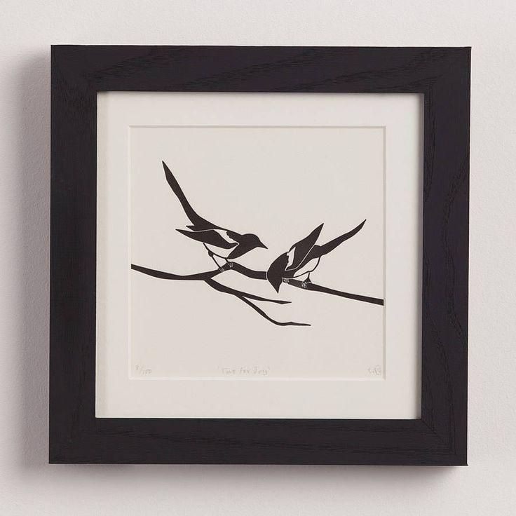 'two for joy' letterpress print by emma lee cheng | notonthehighstreet.com