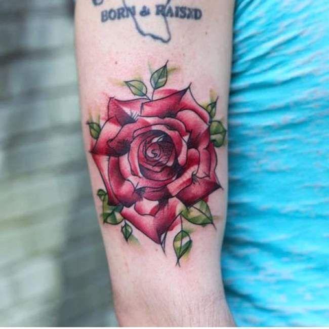 17 meilleures id es propos de tatouages de rose sur bras sur pinterest tatouages de roses - Tatouage homme rose ...
