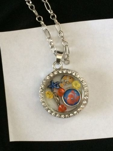 Finding Nemo Themed Inspired Locket Memory Locket, Nemo Living Locket