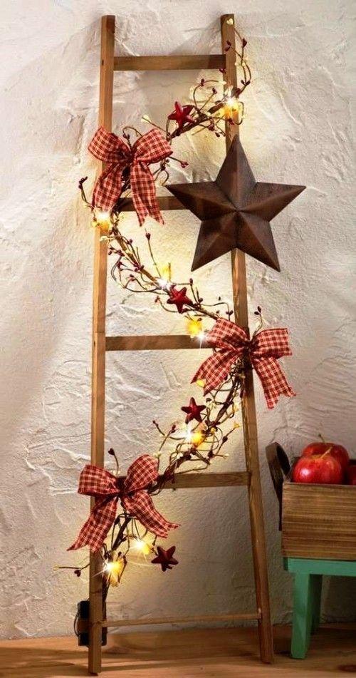 Skandi und Retro Weihnachtssterne aus Holz effektvoll in Szene setzen – 50 Ideen