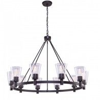AC10760OB Clarence AC10760OB 10 Light Chandelier