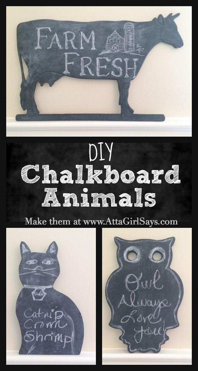 DIY Chalkboard Animals