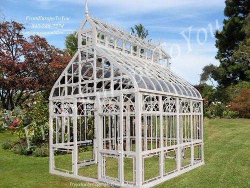 gazebo glass. victorian style cast iron tempered glass gothic gazebo greenhouse conservatory ebay