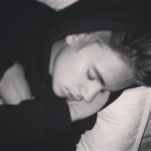 He looks so cute sleeping :)