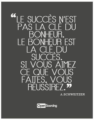 """""""Le succès n'est pas la clé du bonheur. Le bonheur est la clé du succès. Si vous aimez ce que vous faîtes, vous réussirez"""" une citation d'Albert SCHWEITZER, qui nous a été confiée par Hélène, chargée de la formation photo."""