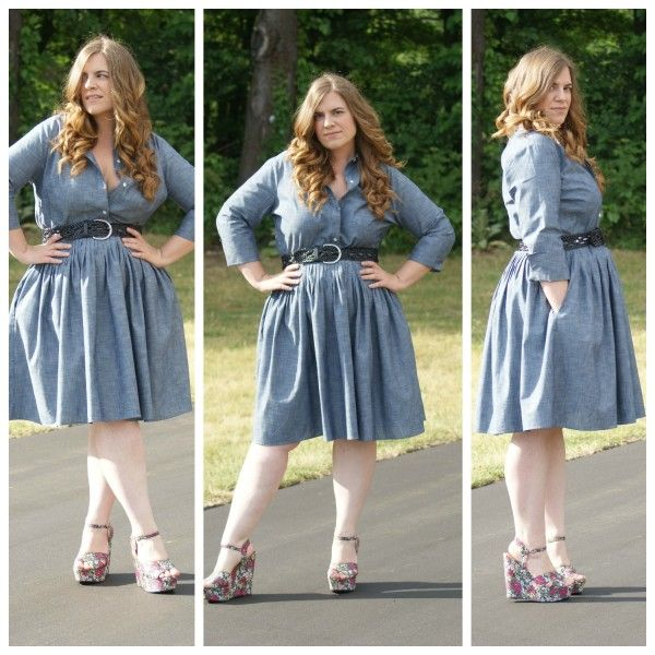 Chambray Dress - Curvy Girl Style: Summer Dresses