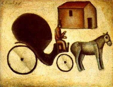 Carlo Carrà La carrozzella 1916
