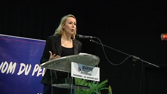 Marion Maréchal-Le Pen lors de son meeting à Fougères le 20 janvier 2017 © France 3 Bretagne