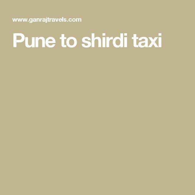 Pune to shirdi taxi