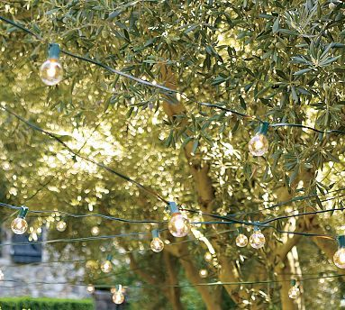 Globe String Lights #potterybarn: Potterybarn, Hanging Lights, Globes String Lights, Back Patio, Trav'Lin Lights, Globes Lights, Porches, Outdoor Spaces, Pottery Barns