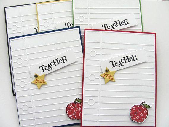 Teacher Appreciation Card Teachers Thank You by SassyScrapsCrafts