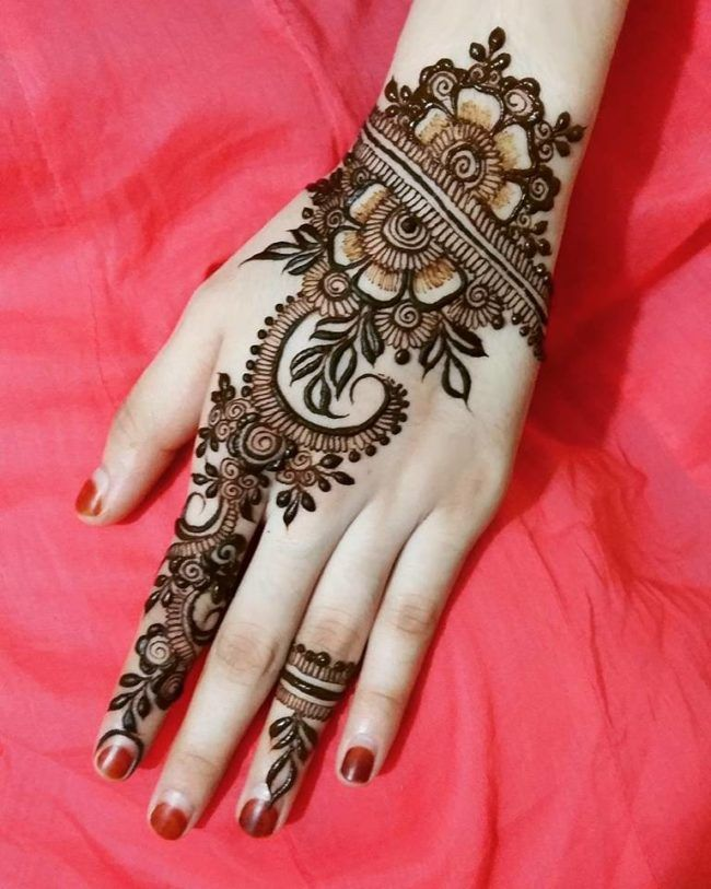 New Indian Mehndi Designs For Bridal (2)