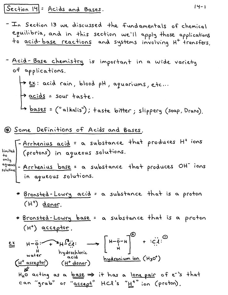 Chemistry Notes Chemistry Pdf Acids, Bases, and the