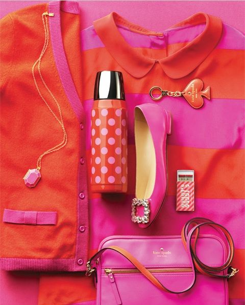 Pink Champagne: Pink & Orange shoes and accessories