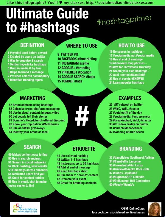 Internet Marketing Expert Gloria Rand shares an infographic that explains everything a small business owner should know about using #hashtags for #socialmedia #marketing. (scheduled via http://www.tailwindapp.com?utm_source=pinterest&utm_medium=twpin&utm_content=post11166444&utm_campaign=scheduler_attribution)