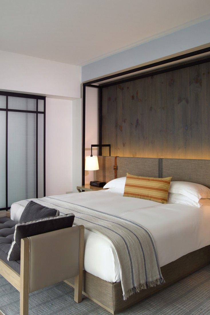 25 best ideas about bed backboard on pinterest rustic for Hotel room decor