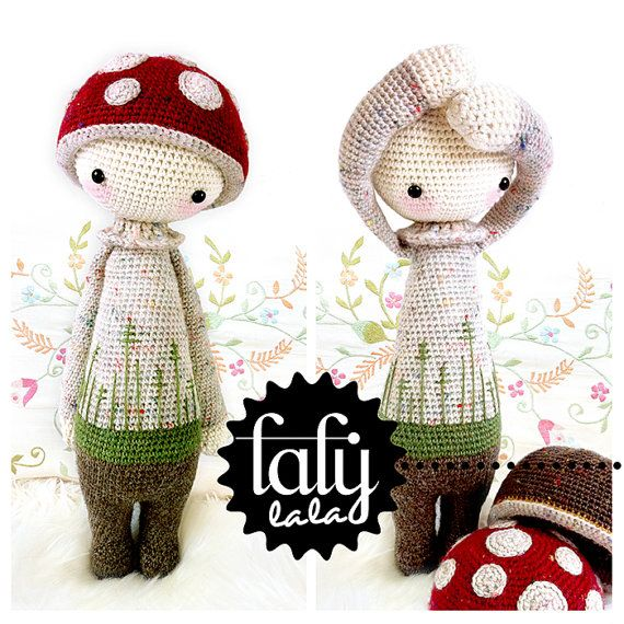 "Crochet Pattern Doll ""PAUL the toadstool"" PDF"