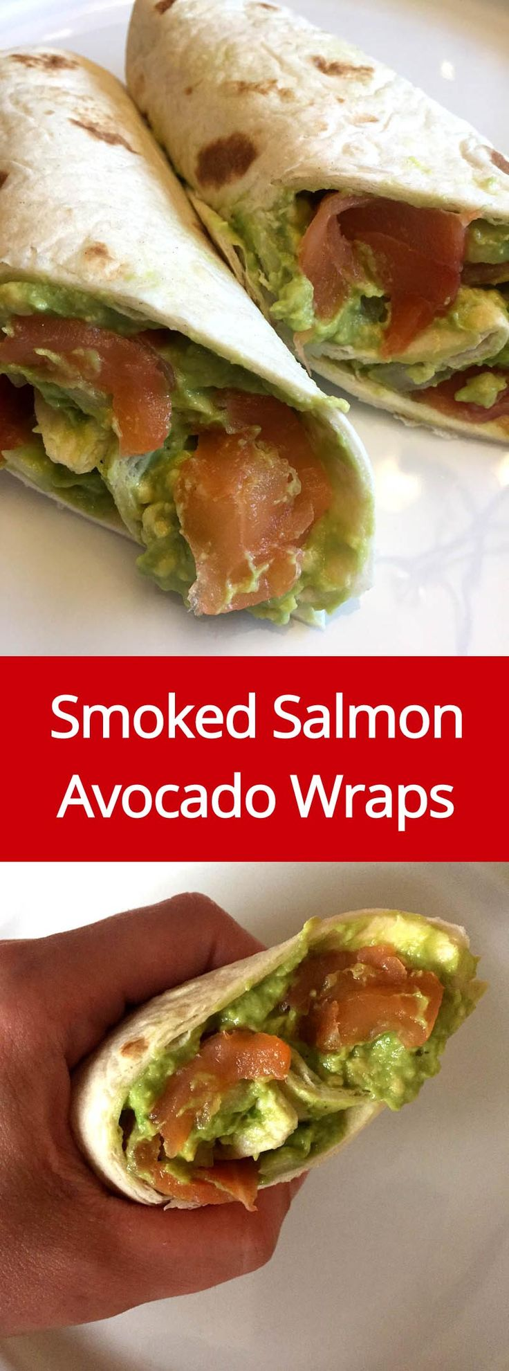 Smoked Salmon And Avocado Tortilla Rolls Recipe - these wraps are so easy to make and so yummy!   MelanieCooks.com