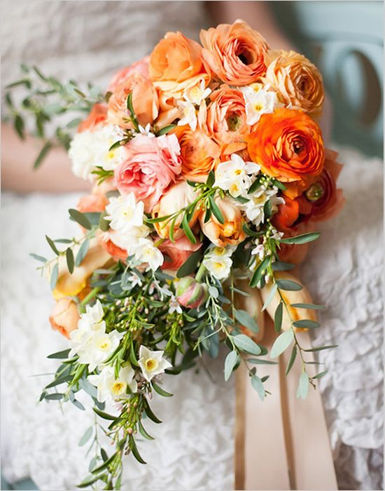 Spanish tradition:  orange blossoms--happiness
