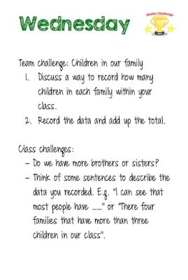 Room 12's Blog: Maths Week Challenges