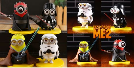With Star Wars: The Force Awakens in cinema this month. We have now the latest Star Wars Minions mini cute toys in stock! Grab them for the perfect Christmas present.
