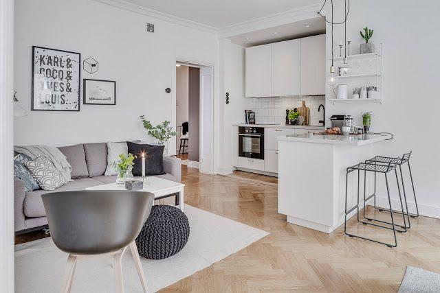 Blog wnętrzarski - design, nowoczesne projekty wnętrz: Salon z aneksem kuchennym - aranżacja