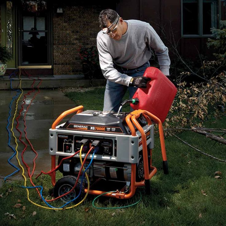 Tips for Using Emergency Generators: Let the Engine Cool Before You Refill! http://www.familyhandyman.com/smart-homeowner/home-safety-tips/tips-for-using-emergency-generators