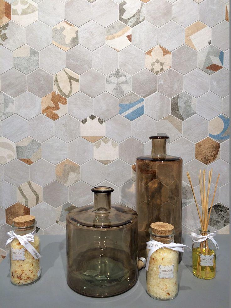 Once more hexagon - by  Kakelmässan #Cersaie2014